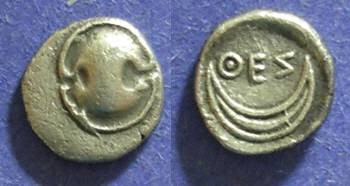 Ancient Coins - Boeotia, Thespiai Circa 375 BC, Obol
