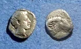 Ancient Coins - Caria, Halikarnassos 395-377 BC, Hemiobol