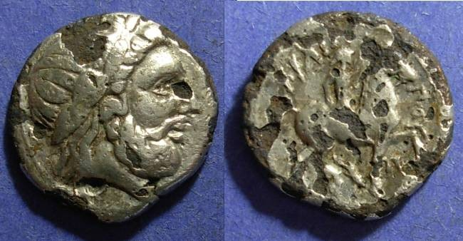 Ancient Coins - Macedonian Kingdom, Philip II 359-336 BC, Fourre Tetradrachm