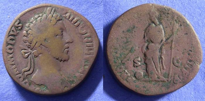 Ancient Coins - Commodus 177-192AD – Sestertius