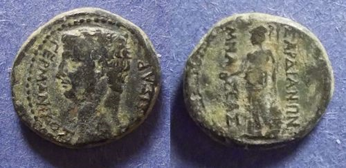 Ancient Coins - Sardes Lydia, Germanicus Died 19AD, AE15
