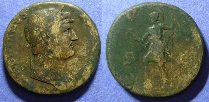 Ancient Coins - Roman Empire, Hadrian 117-138, Sestertius