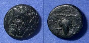 Ancient Coins - Tenos, Cyclades Islands Circa 300 BC, AE10