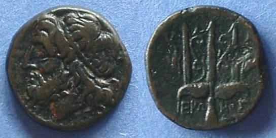 Ancient Coins - Syracuse Sicily - AE18 Hieron II 275-215BC