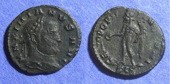 Ancient Coins - Maximianus 296-305AD - ¼ Follis