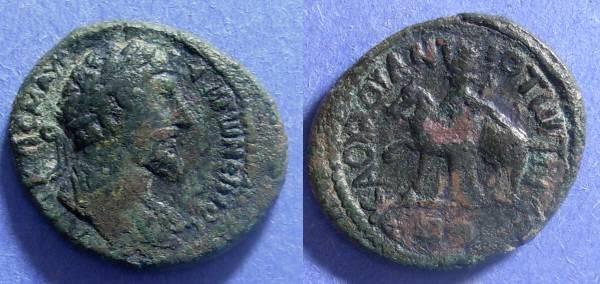 Ancient Coins - Decapolis Hippos-Susita, Marcus Aurelius 161-180, AE25