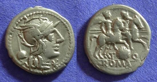 Ancient Coins - Roman Republic - T Quinctius Flamininus - Denarius 126 BC
