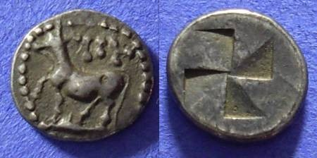 Ancient Coins - Byzantion Thrace - Diobol 340-320 BC (Barbarous?)