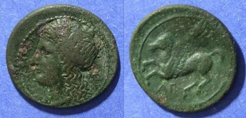 Ancient Coins - Sicily, Syracuse 336-317 BC, AE20