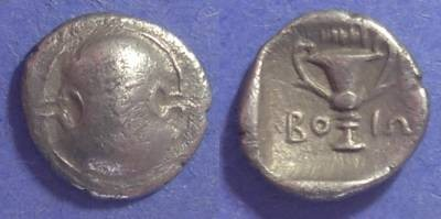 Ancient Coins - Boeotia, Federal coinage 395-340 BC, Hemidrachm
