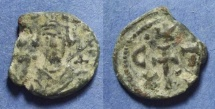Ancient Coins - Byzantine Empire, Constans II 641-668, Half Follis