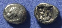 Ancient Coins - Caria, Uncertain city 500-470 BC, 1/6 Stater