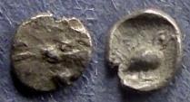 Ancient Coins - Ionia, Miletos 550-500 BC, Tetartemorion