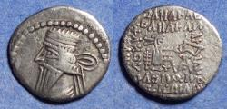Ancient Coins - Parthian Kingdom, Vologases III 105-147, Silver Drachm