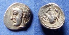 Ancient Coins - Gaul, Massalia 460-450 BC, Silver Obol