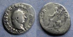 Ancient Coins - Roman Empire, Vitellius 69, Denarius