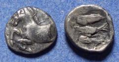 Ancient Coins - Kings of Thrace, Sparadokos 464-444 BC, Silver Diobol