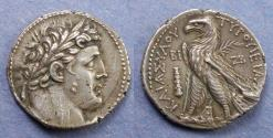 Ancient Coins - Phoenicia, Tyre Struck 115/4 BC, Shekel