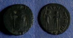 Ancient Coins - Roman Empire, Honorius / Theodosius II Circa 410, AE3/4 Reverse brockage