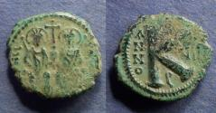 Ancient Coins - Byzantine Empire, Justin II 565-578, Half Follis