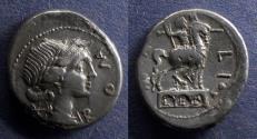 Ancient Coins - Roman Republic, Mn Aemilius Lepidus 114/113 BC, Denarius