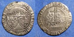 World Coins - France, Anglo-Gallic, Henry VI 1422-1461, Silver Grand Blanc