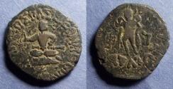Ancient Coins - Indo-Scythian, Azes I 58-12 BC, AE