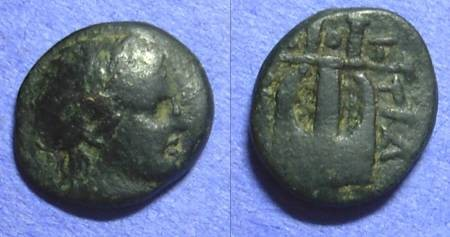 Ancient Coins - Bottice Macedonia AE16 Circa 400 BC