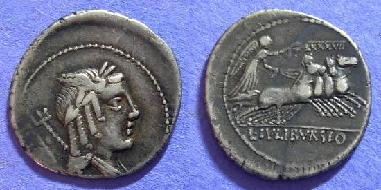Ancient Coins - Roman Republic – Julia 5a Denarius 85 BC