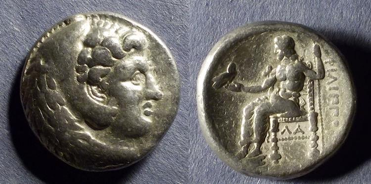 Ancient Coins - Macedonian Kingdom, Phillip III 323-317 BC, Tetradrachm