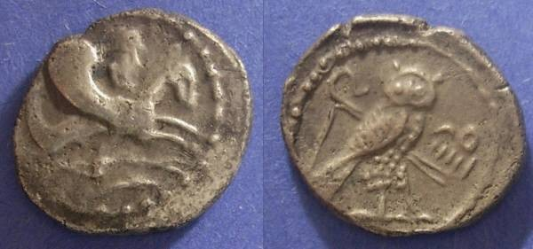 Ancient Coins - Tyre Pheonicia, Uzzimilk 360-332 BC, Half Shekel