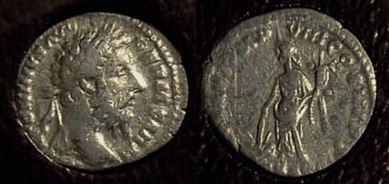 Ancient Coins - Marcus Aurelius 161-180AD Denarius - Slabbed ICG F15