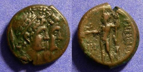 Ancient Coins - Rhegion Bruttium - AE16 Circa 250 BC