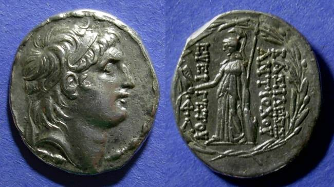 Ancient Coins - Seleucid Kingdom, Antiochos VII 138-129 BC, Tetradrachm