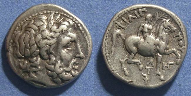 Ancient Coins - Macedonian Kingdom, Philip II Struck 315-294 BC, Tetradrachm