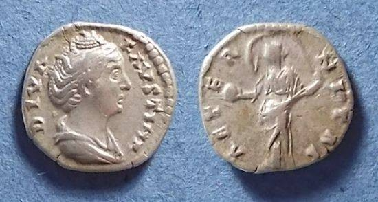 Ancient Coins - Roman Emipre, Faustina Sr d. 141, Denarius