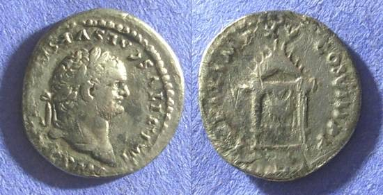 Ancient Coins - Titus (as Augustus) 79-81AD – Denarius