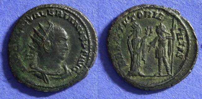 Ancient Coins - Valerian – 253-260 AD Antoninianus