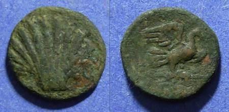 Ancient Coins - Calabria, Graxa 200-170 BC, AE13