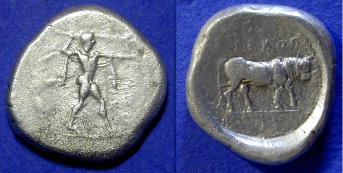 Ancient Coins - Poseidonia Lucania - Stater 445-420BC