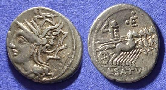 Ancient Coins - Roman Republic - Denarius 104 BC - Appuleia 1var