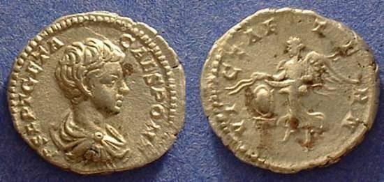 Ancient Coins - Geta (as Caesar) 298-208AD Denarius