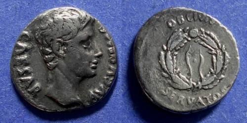 Ancient Coins - Roman Empire, Augustus 27BC-14AD, Denarius