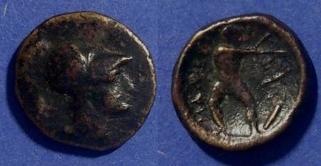 Ancient Coins - Lamia, Thessaly 400-344 BC, AE14