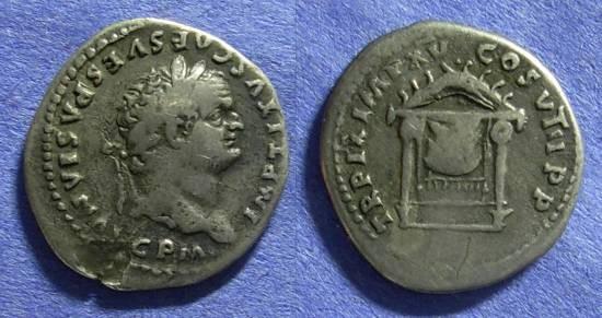 Ancient Coins - Titus – as Augustus – 79-81AD Denarius