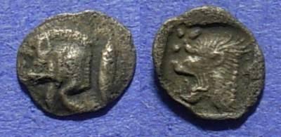 Ancient Coins - Kyzikos Mysia - 480-450BC - Hemiobol