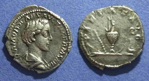 Ancient Coins - Roman Empire, Commodus (Caesar) 166-176, Denarius