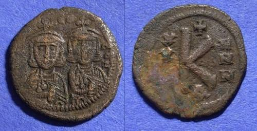 Ancient Coins - Byzantine Empire - Leo III 717-741  ½ Follis of the Constantinople mint