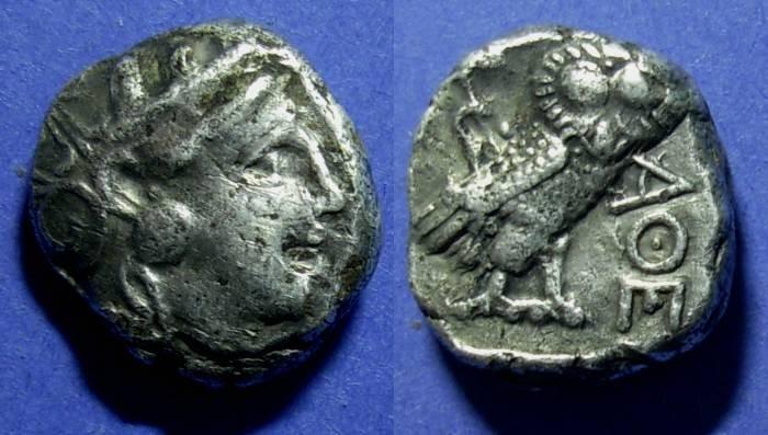 Ancient Coins - Attica, Athens Circa 375 BC, Tetradrachm