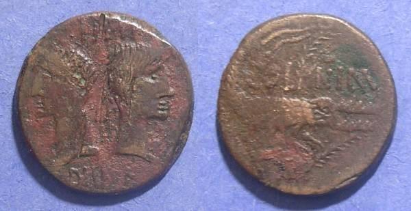 Ancient Coins - Imitative Nemausus, Gaul Circa 10 BC, AE23